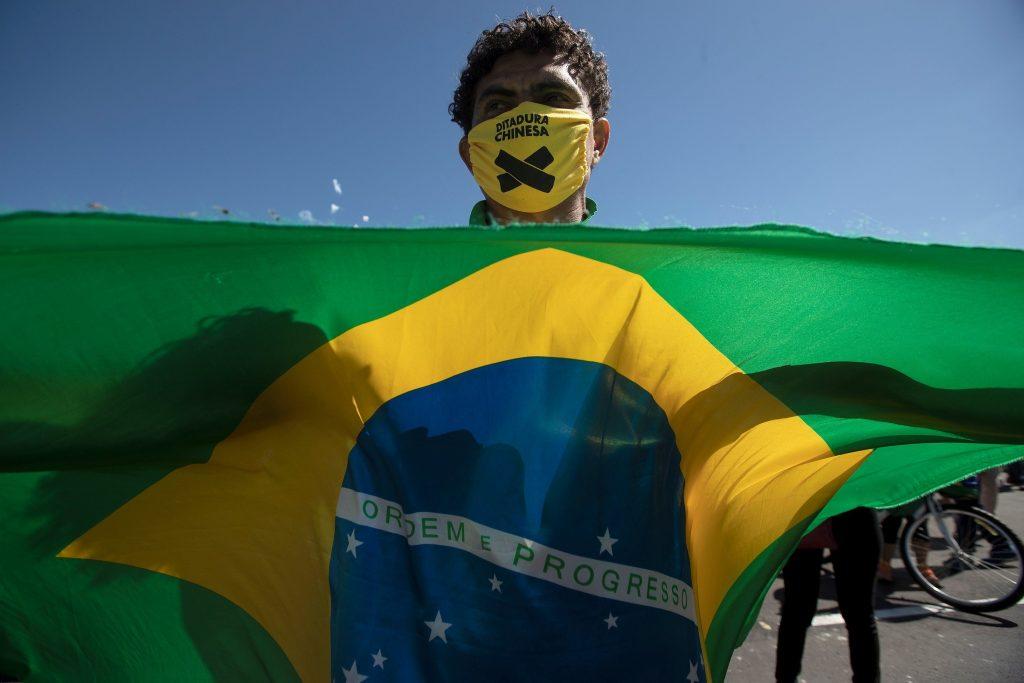 Manifestant bresilien