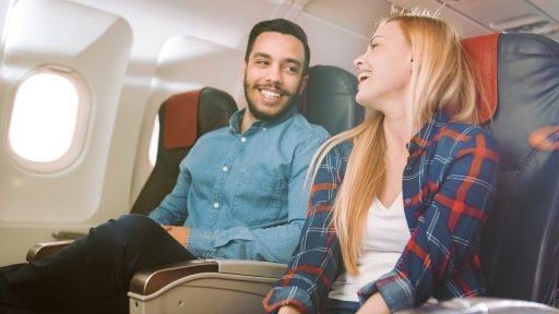 Vliegtuig reis koppel
