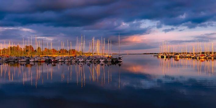 denmark-water boats sunset