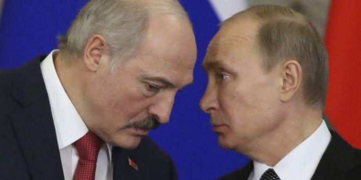 Alexander Lukashenko and Vladimir Putin