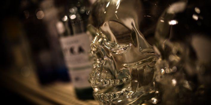 alcohol skull